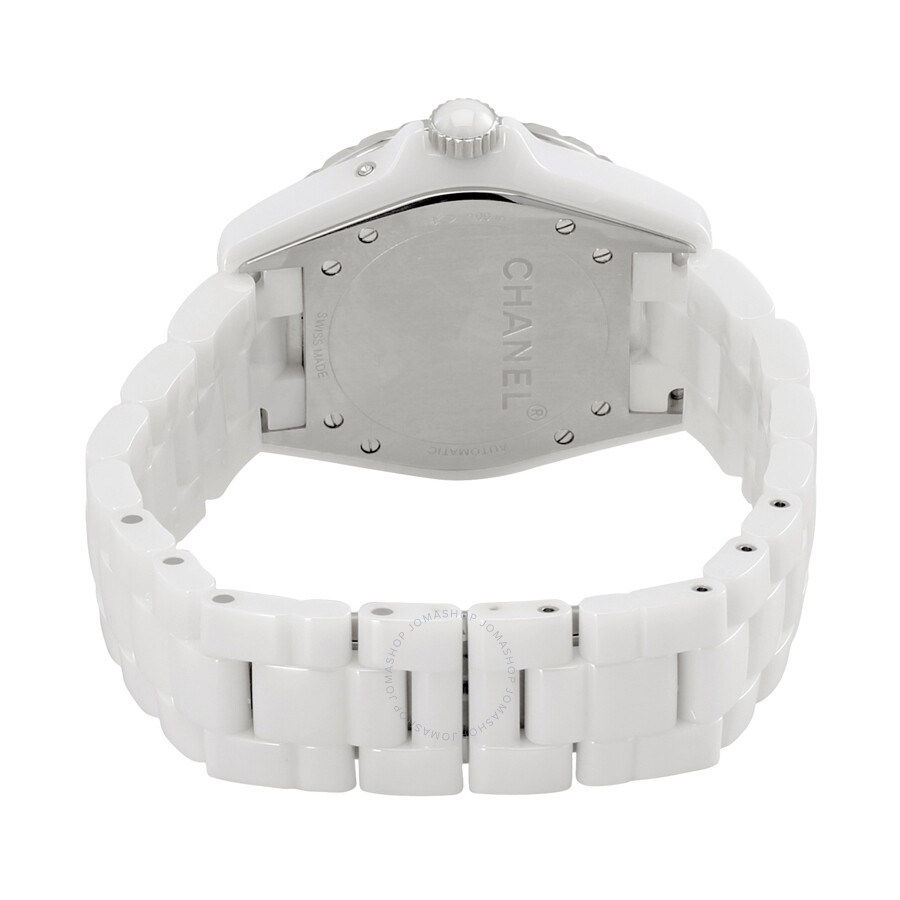 51a6251516f8 ... Chanel J12 Moon Phase Mother of Pearl Dial White Ceramic Ladies Watch  H3404