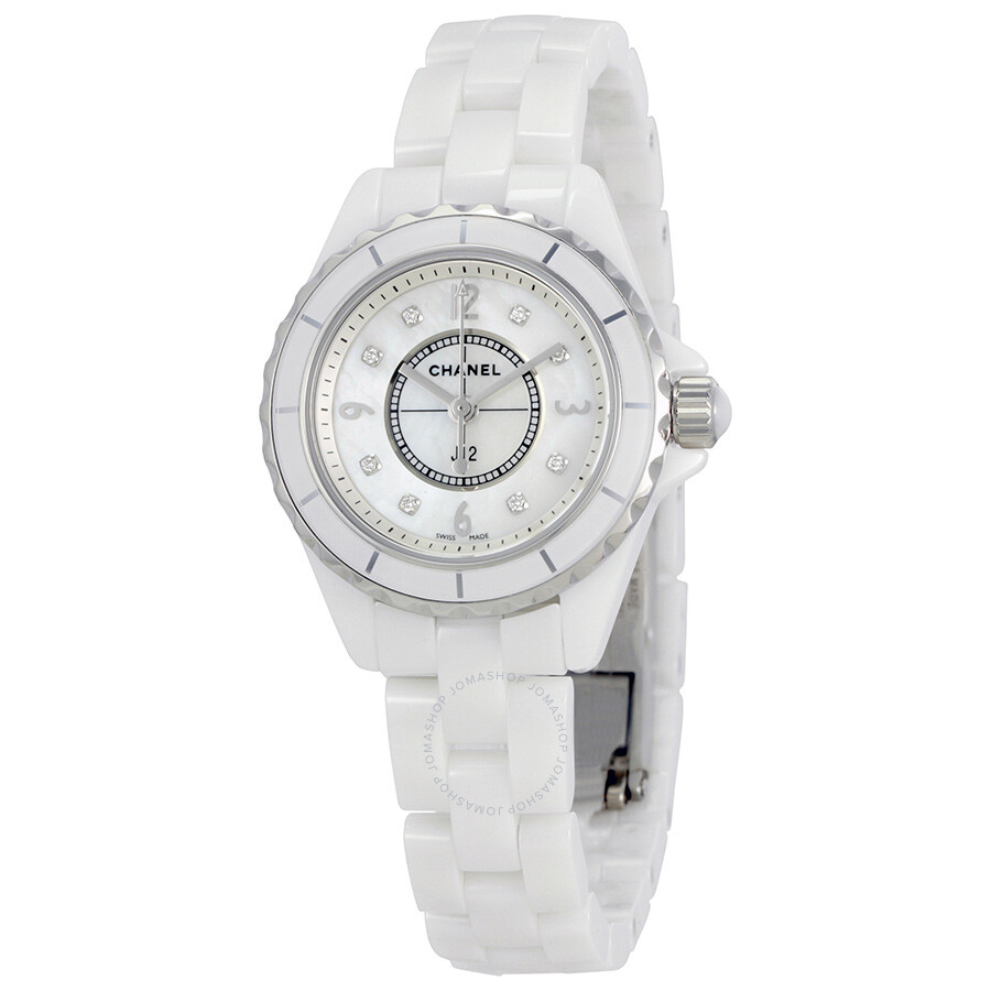 a5aa4c8e Chanel J12 Mother of Pearl White Ceramic Ladies Watch H2570