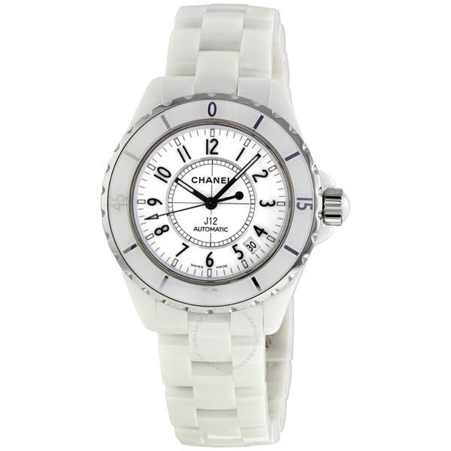 72cc7007470cd Chanel J12 White Automatic White Dial White Ceramic Watch H0970 ...