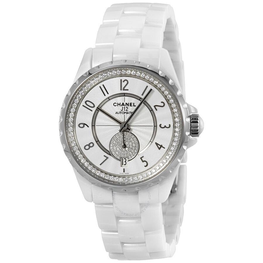 4758dc9151d Chanel J12 White Ceramic Diamond Automatic Unisex Watch H3841 - J12 ...