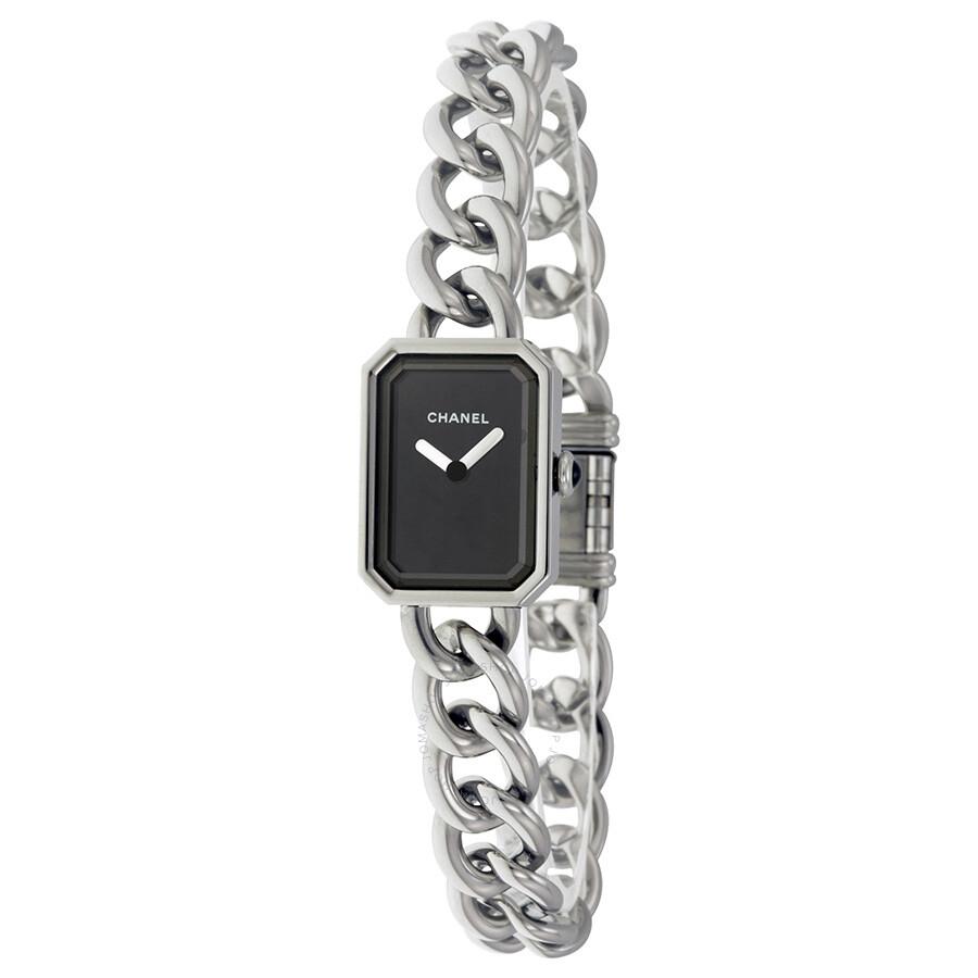 946b4b1351b8 Chanel Premiere Black Dial Stainless Steel Ladies Watch Item No. H3248