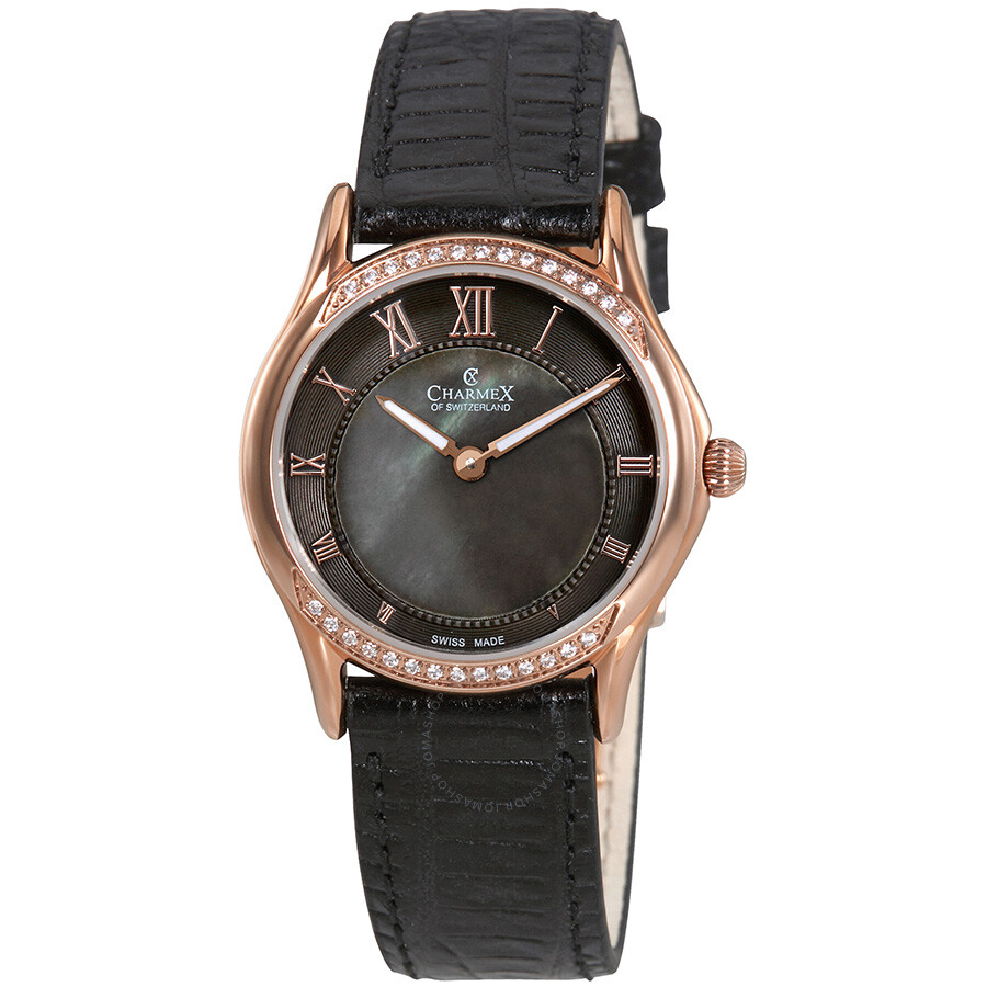 Charmex cannes black mother of pearl dial ladies watch 6327 charmex watches jomashop for Mother of pearl dial watch
