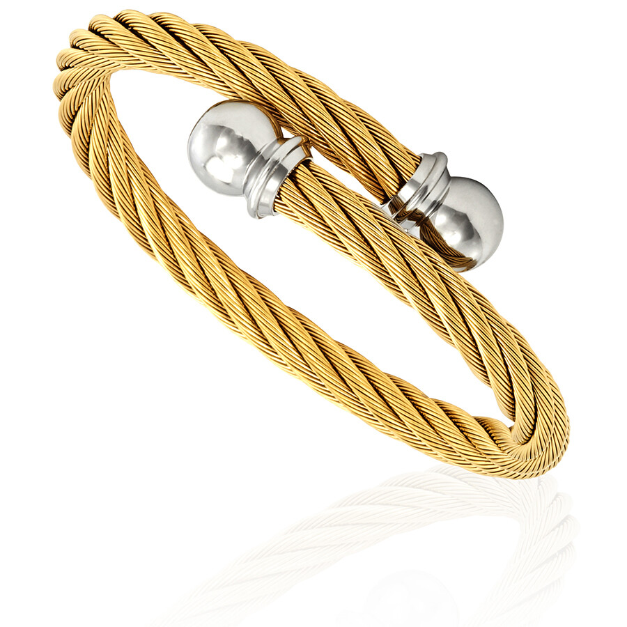 Charriol Celtic Jewels Yellow Gold Pvd Bangle Bracelet 04 401 1216 0