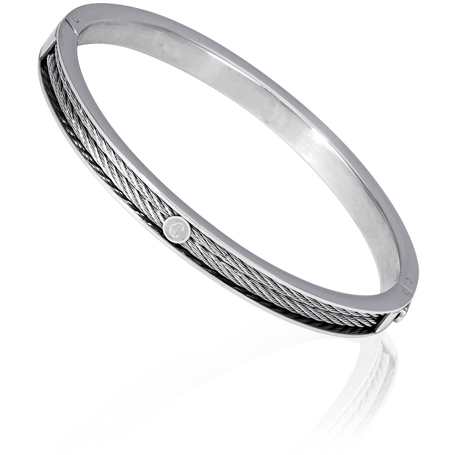 f88a3cc0e Charriol Forever Thin Stainless Steel Ladies Bangle Bracelet 04-101-1139-7  ...