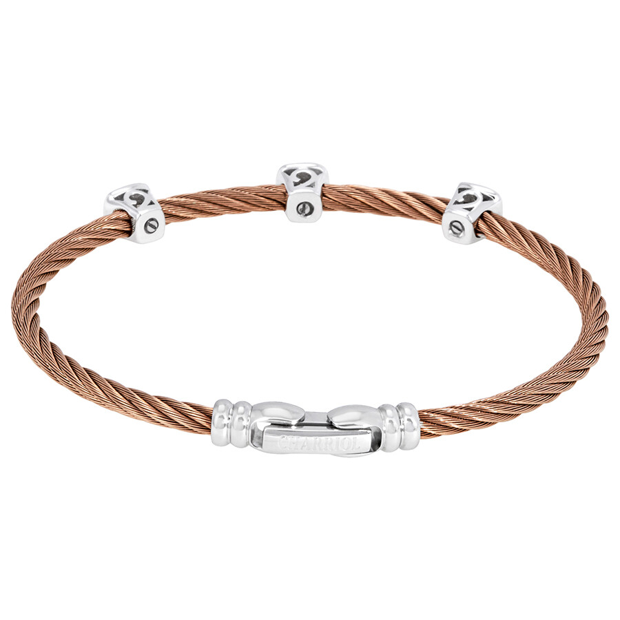 15c64c17dfde2 Charriol Les Debutantes Ladies Rose Gold PVD Bangle Bracelet 04-221-1233-3