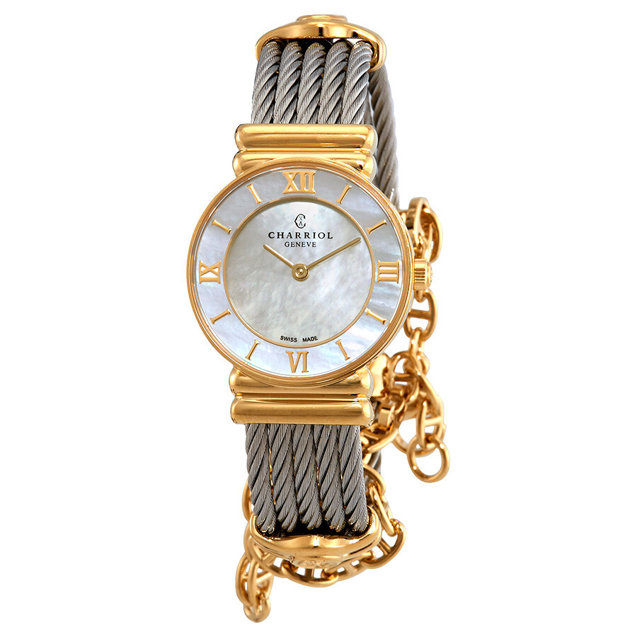 8c891dd6fc6 Charriol St-Tropez Amour Classic White Mother of Pearl Dial Ladies Watch  028YI.540.555 ...