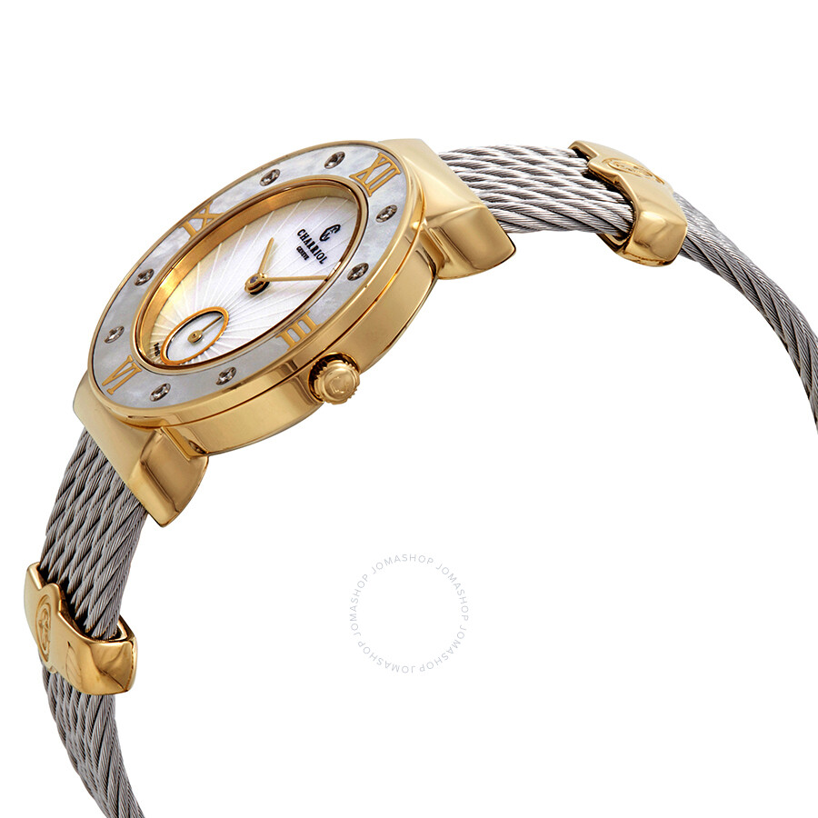 6ee1780a14f ... Charriol St-Tropez Diamond White Mother of Pearl Dial Ladies Watch  ST30YD.560.009 ...