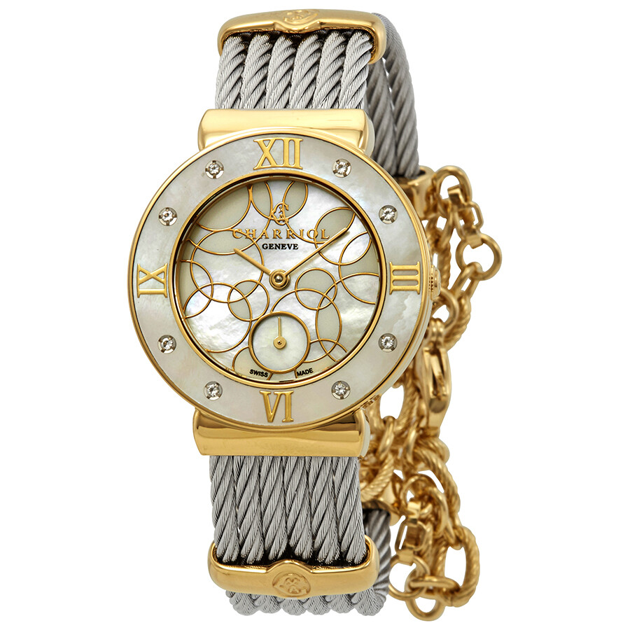 fc439c14dfb Charriol St. Tropez Diamond White Mother of Pearl Dial Ladies Watch  ST30YD.560.029 ...