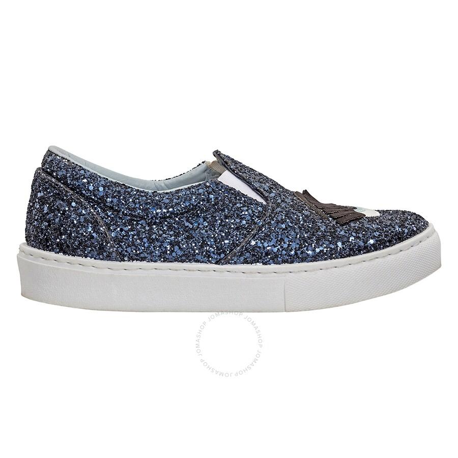 check out b7a6d 08231 Chiara Ferragni Sequin Sneakers- Glitter Blue/ Size 37