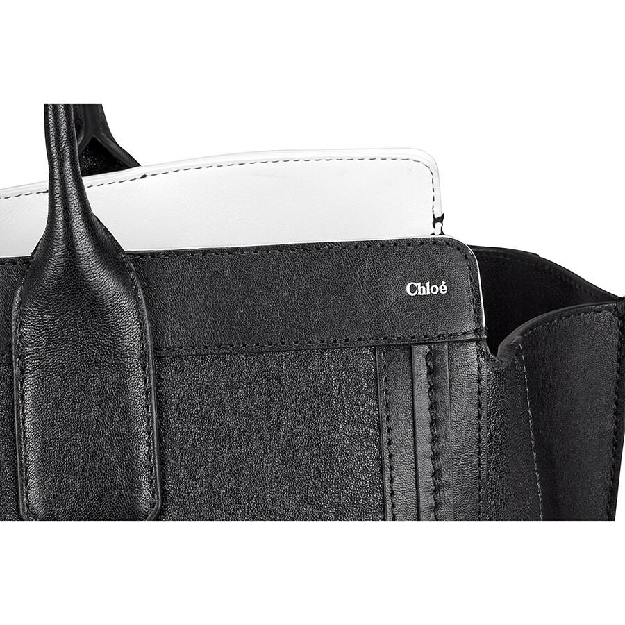 blue chloe handbag - Chloe Alison Medium Shopper Tote Leather Handbag - Black - Jomashop
