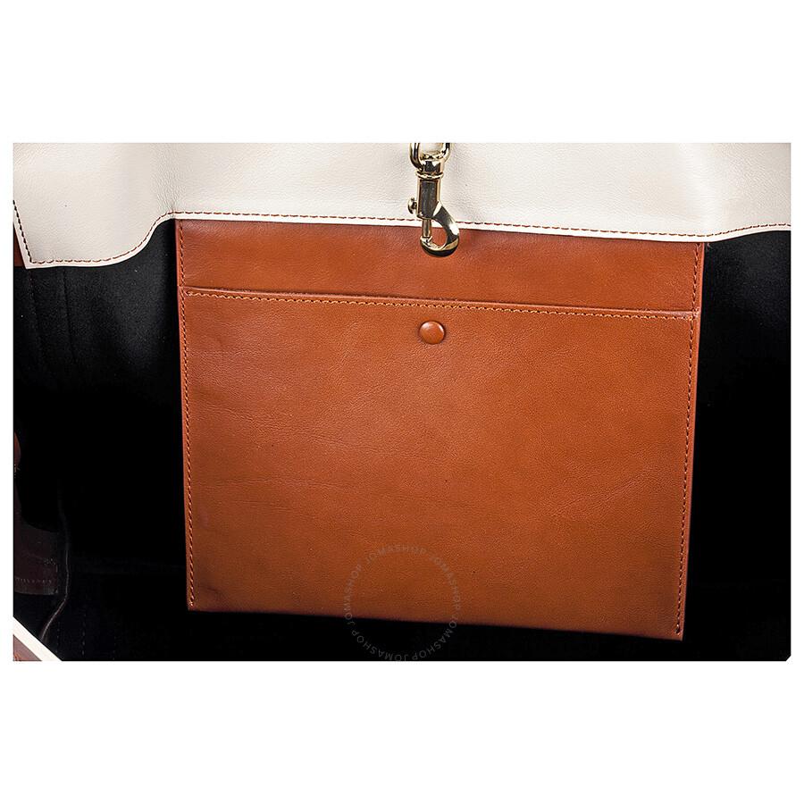 chloe wallets online - Chloe Alison Medium Shopper Tote Leather Handbag - Black and Tan ...