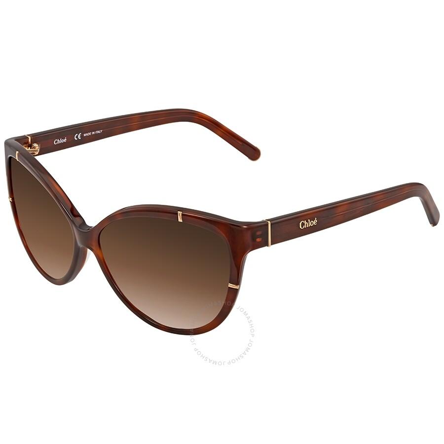 af8bc422c38b Chloe Brown Gradient Cat Eye Sunglasses CE620S 218 59 - Chloe ...