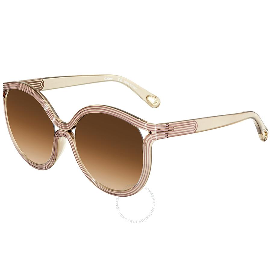 83c29532e34b Chloe Brown Gradient Round Sunglasses CE738S 264 57 - Chloe ...