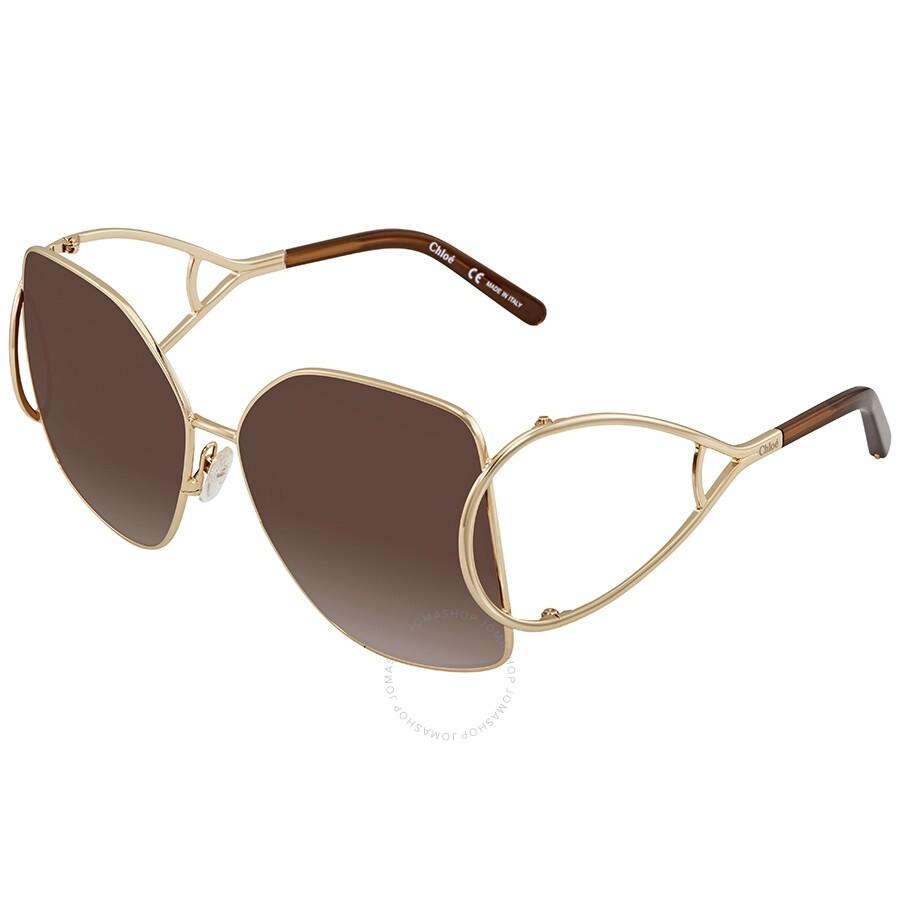 22167da73c Chloe Brown Gradient Square Sunglasses CE135S 743 63 - Chloe ...