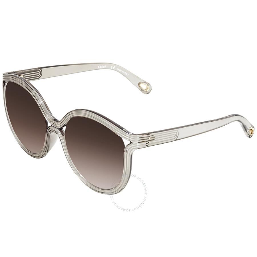 58ee4ce18d41 Chloe Brown Grey Gradient Round Sunglasses CE738S 035 57 - Chloe ...