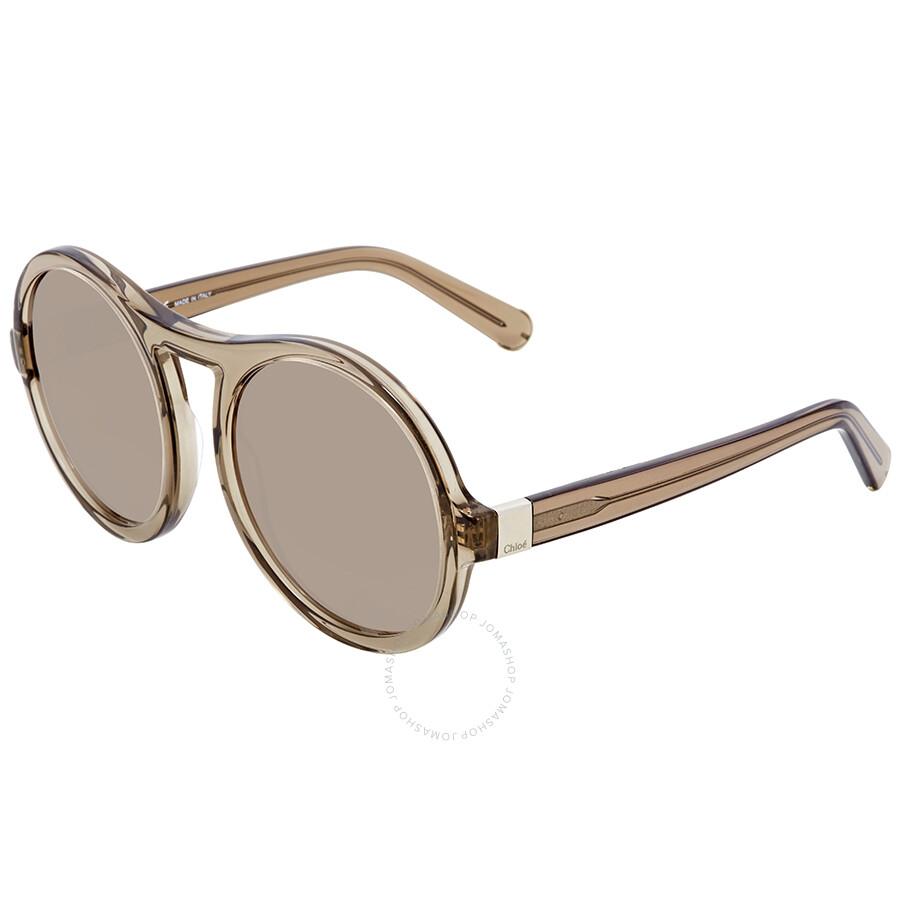 46b4ebe248da Chloe Brown Round Sunglasses CE715S 272 57 - Chloe - Sunglasses ...