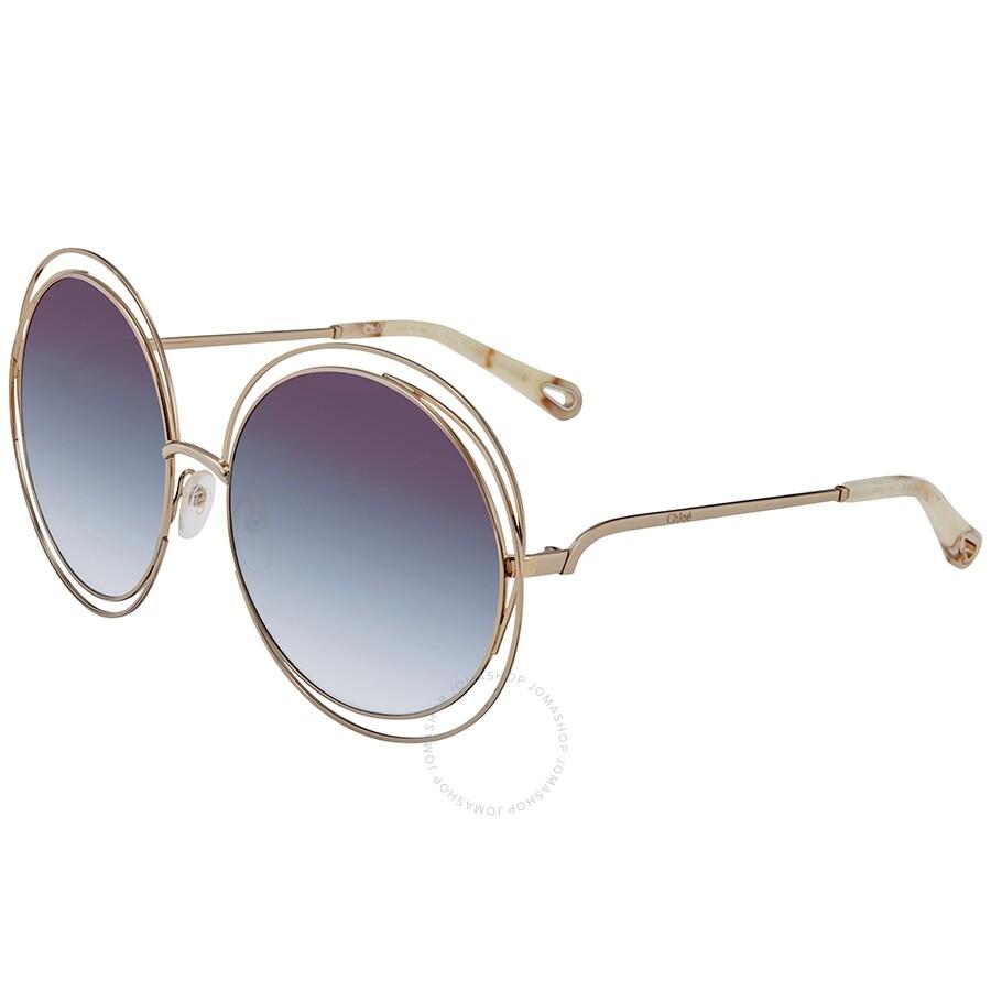 50cc5e2692 Chloe Carlina Purple Azure Shaded Oversized Ladies Sunglasses CE114SD814