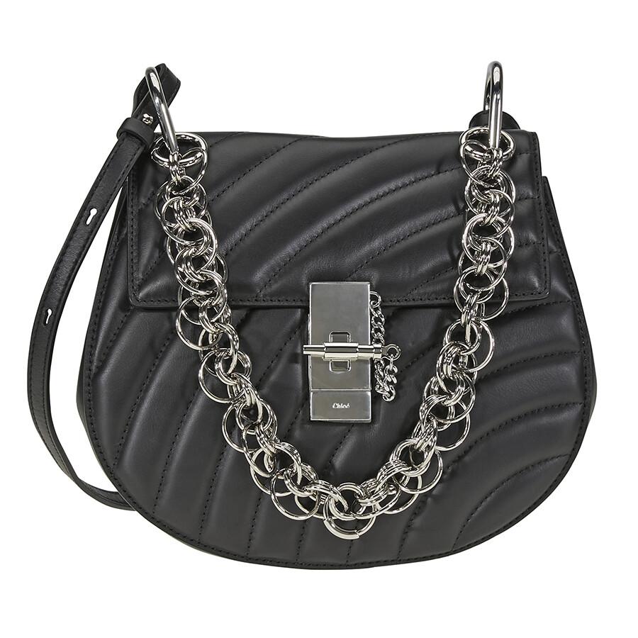 3b62ce3ce75 Chloe Drew Bijou Quilted Leather Shoulder Bag- Black Item No. CHC18US106A08  001