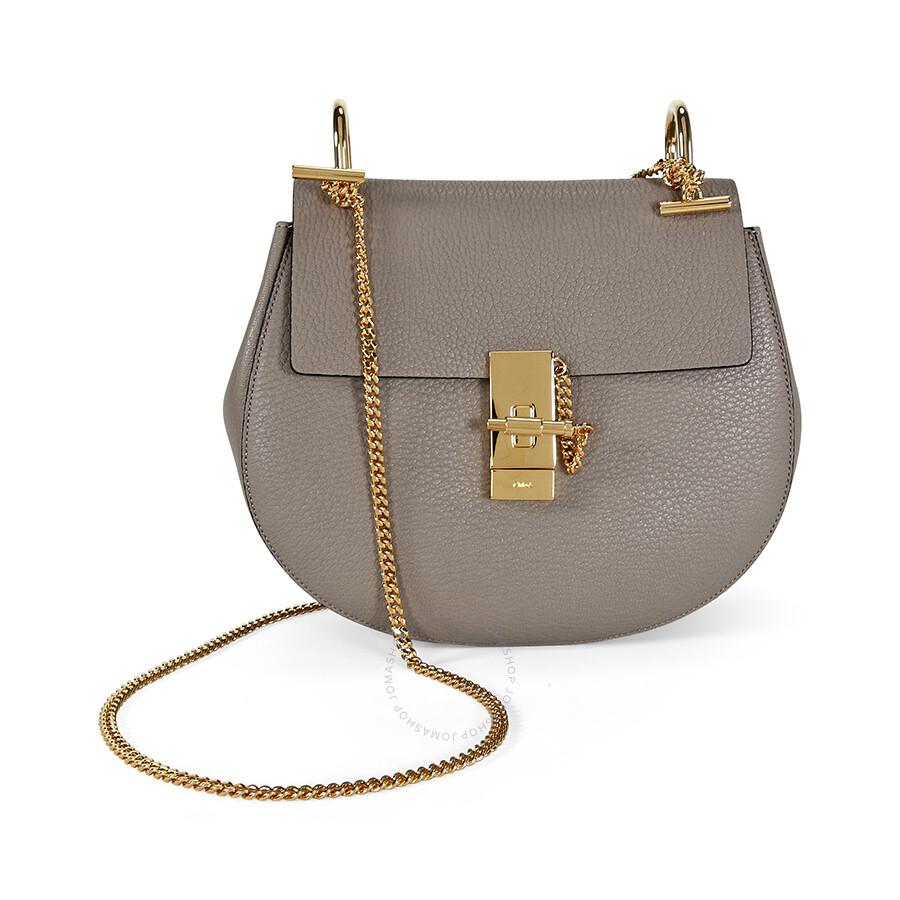 73bcbe3b73 Chloe Drew Calfskin Leather Shoulder Bag - Motty Grey Item No.  3S1031-944-B79