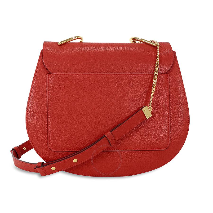 Chloe Drew Medium Crossbody Bag - Plaid Red - Jomashop