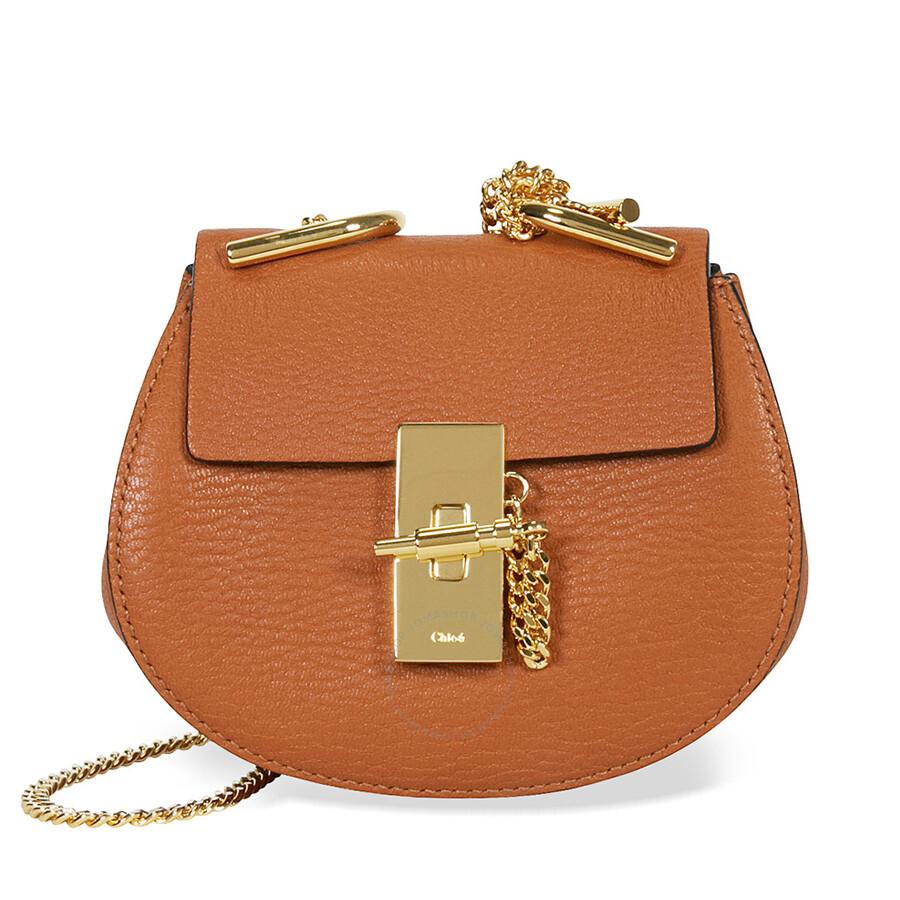 Chloe Drew Nano Leather Crossbody Bag - Caramel Item No. 3S1038-944-BDU.  Spring Sale 2bd29fae98fff