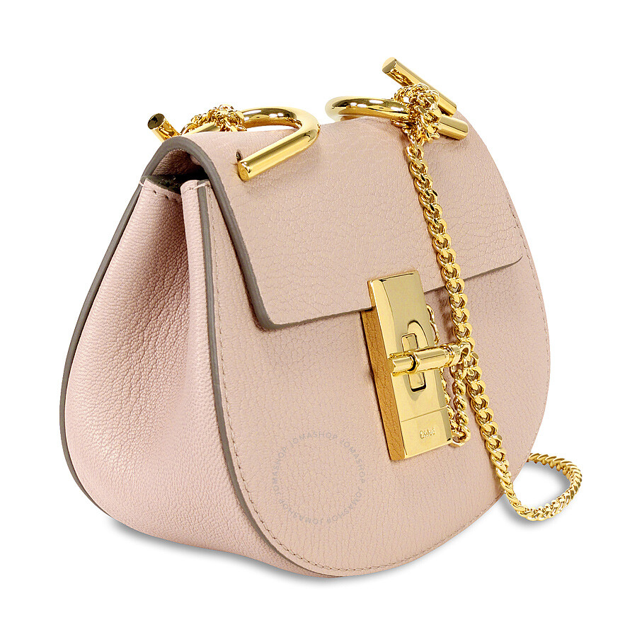 chloe drew nano leather crossbody bag cement pink chlo handbags handbags accessories. Black Bedroom Furniture Sets. Home Design Ideas