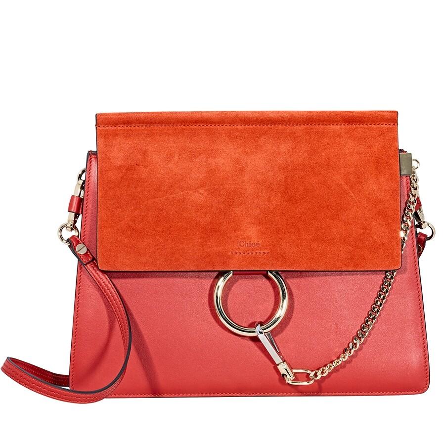 8b82bf8b4adc Chloe Faye Shoulder Bag- Earthy Red - Faye - Chloé Handbags ...