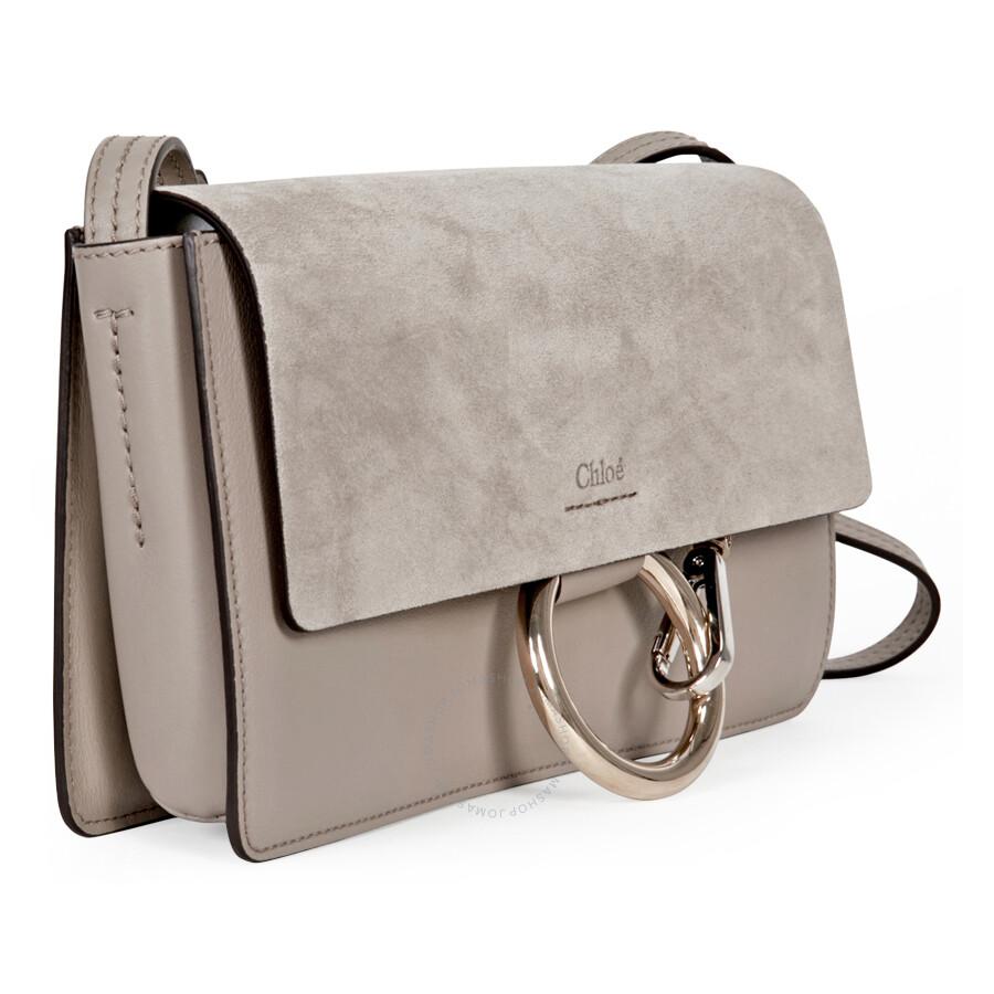 df5526ac284 Chloe Faye Small Leather Clutch - Motty Grey - Faye - Chloé Handbags ...
