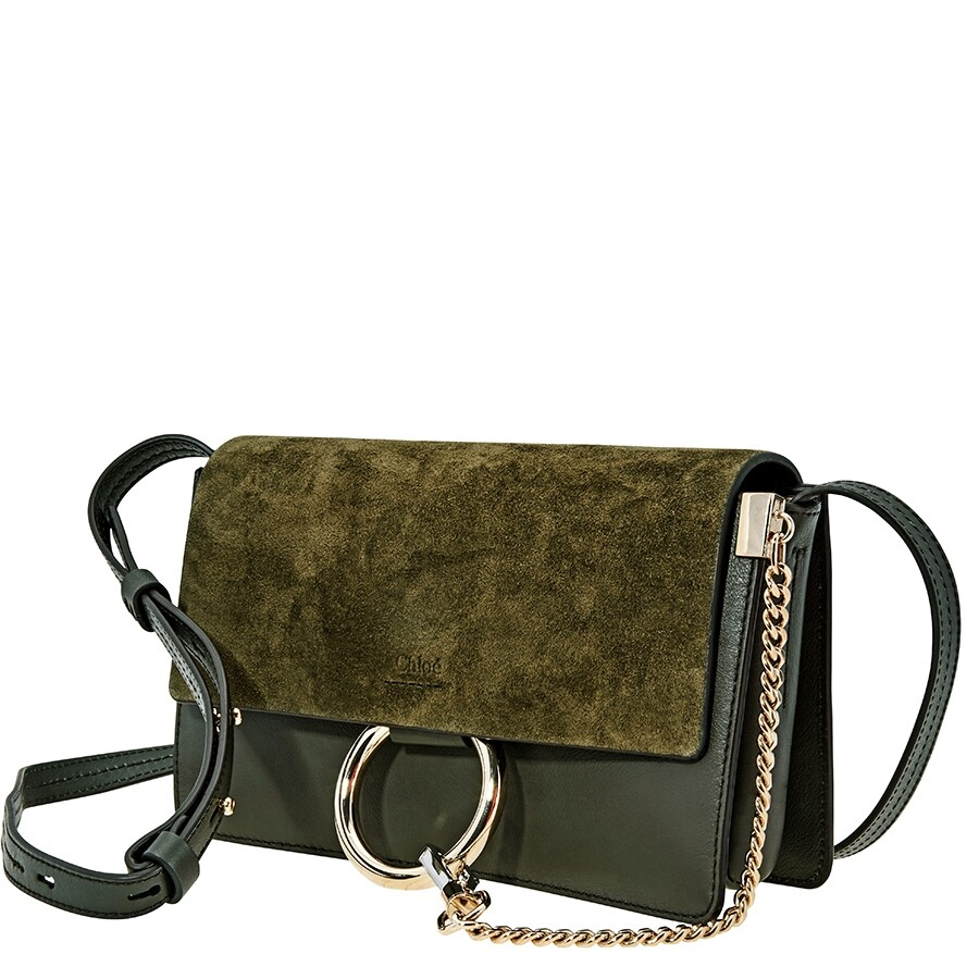 e79ba355e9 Chloe Faye Small Shoulder Bag- Deep Forest - Faye - Chloé Handbags ...