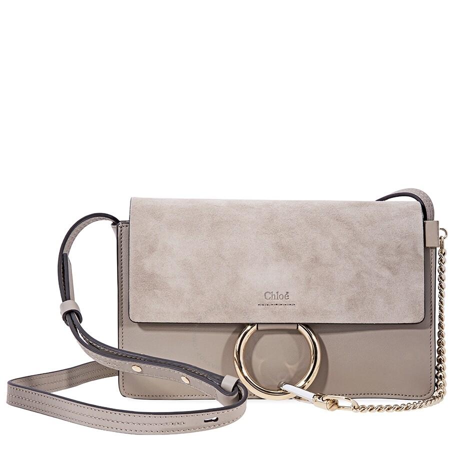 d77c910daff Chloe Faye Small Shoulder Bag- Motty Grey - Faye - Chloé Handbags ...