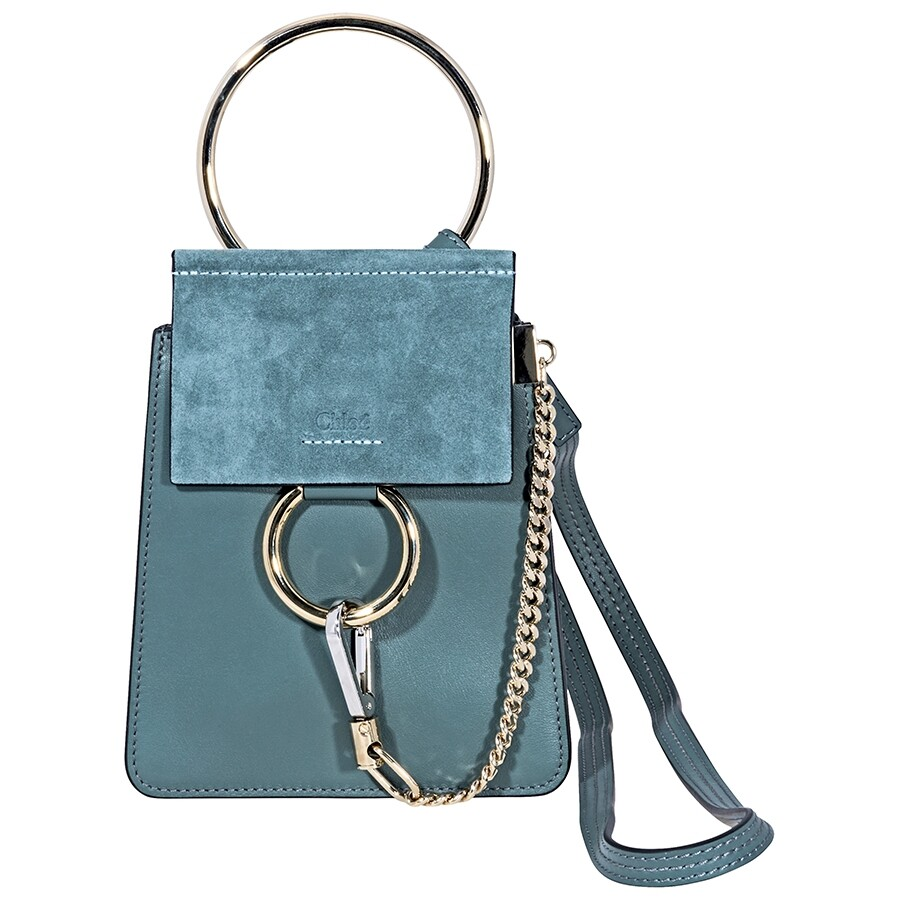 4a806ba68233 Chloe Faye Suede Calfskin Mini Bag - Cloudy Blue Item No. C17WS320H2O 41H