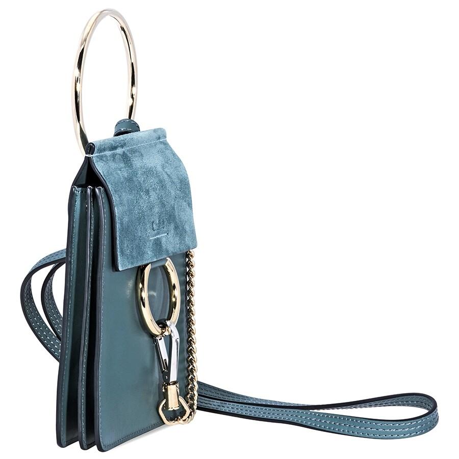 e71b777478fd Chloe Faye Suede Calfskin Mini Bag - Cloudy Blue - Faye - Chloé ...