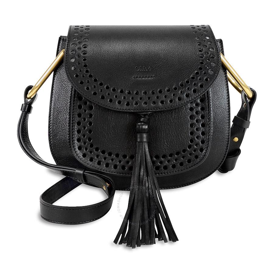 29426a443acf3 Chloe Hudson Perfoarated Leather Saddle Bag - Black Item No. 3S1219-H7H-001