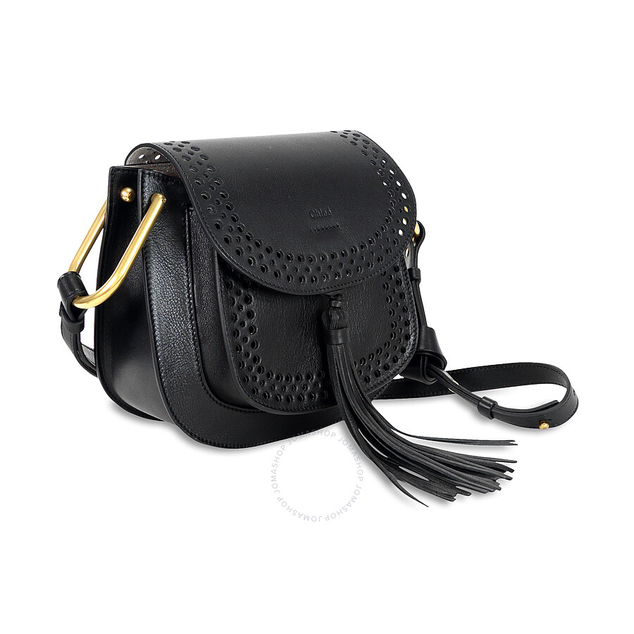 chloe hudson perfoarated leather saddle bag black chlo handbags handbags accessories. Black Bedroom Furniture Sets. Home Design Ideas