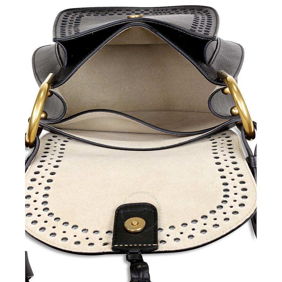 88b32dc6f9f0d Chloe Hudson Perfoarated Leather Saddle Bag - Black - Hudson - Chloé ...