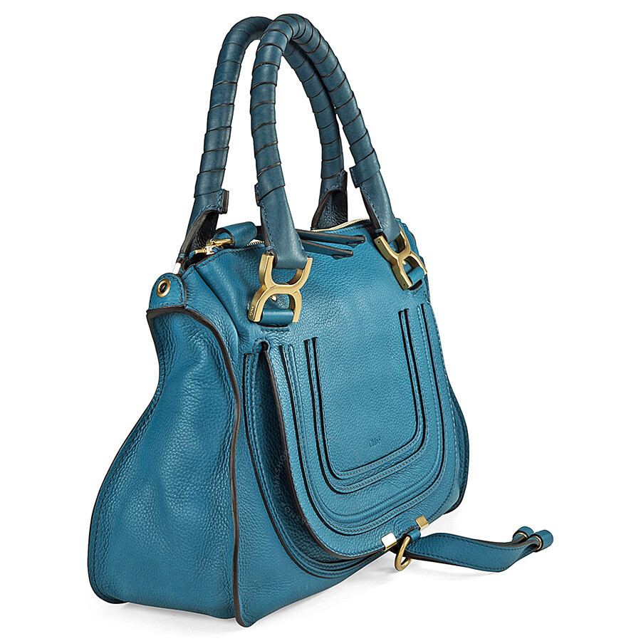 chloe marcie blue leather small satchel chlo handbags handbags accessories jomashop. Black Bedroom Furniture Sets. Home Design Ideas