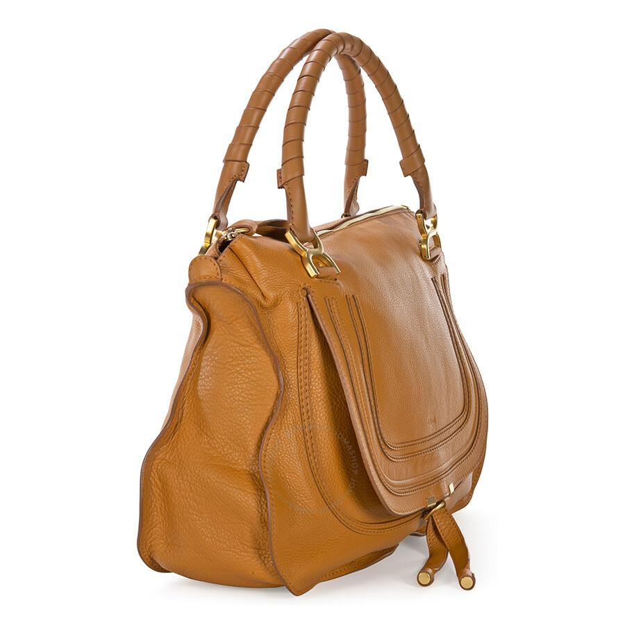 chloe marcie large satchel. chloe marcie large handbag - light tan satchel 2
