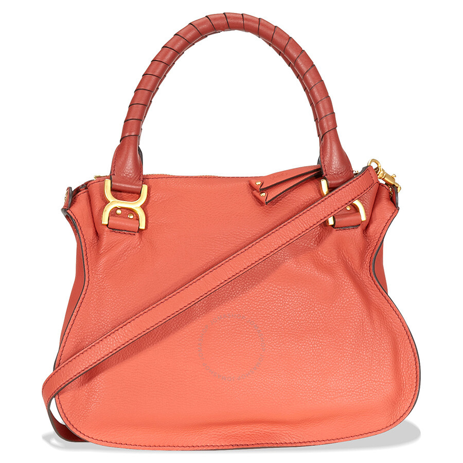 f26becca52 Chloe Marcie Leather Crossbody Bag - Terracotta Red Item No. C10WS860161-841