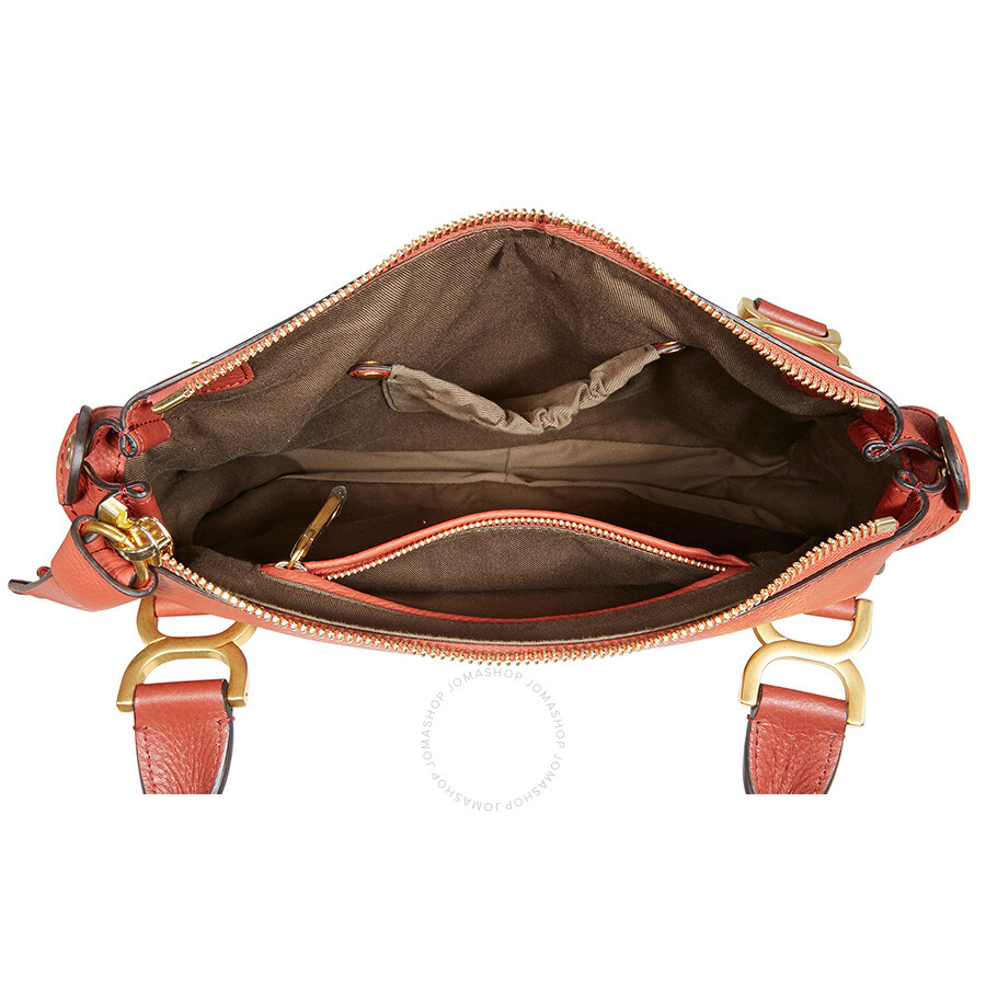 4582bd984e Chloe Marcie Leather Crossbody Bag - Terracotta Red - Marcie - Chloé ...
