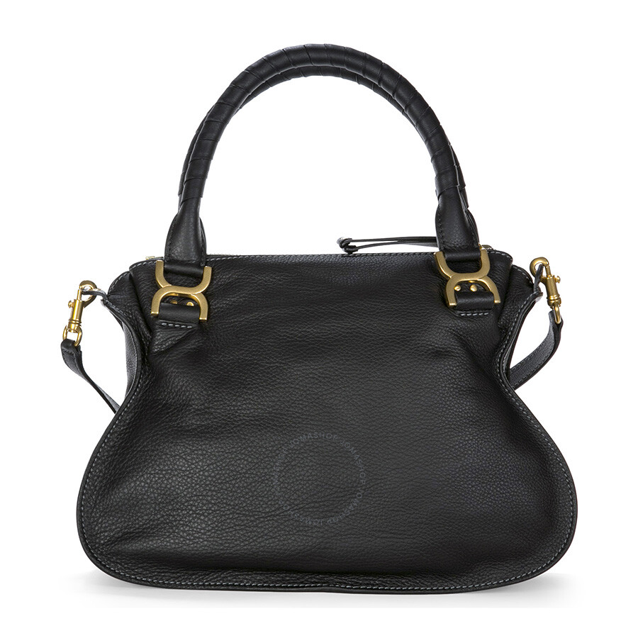 chloe marcie medium leather satchel handbag black chlo handbags handbags accessories. Black Bedroom Furniture Sets. Home Design Ideas