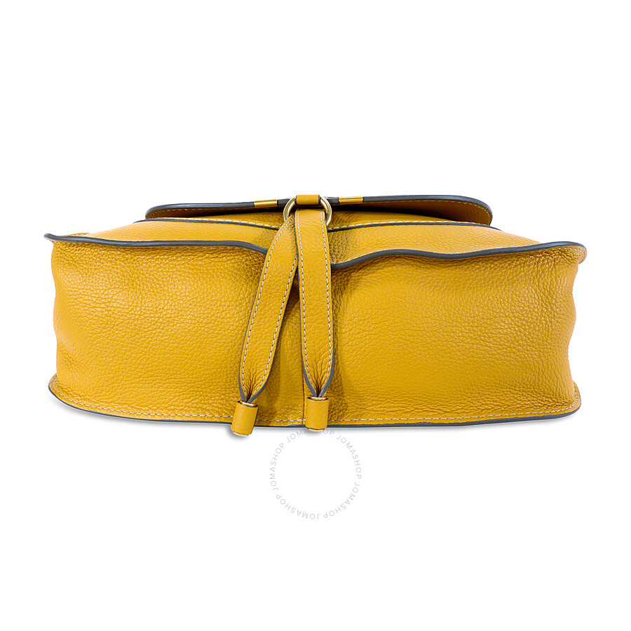 Chloe Marcie Small Leather Satchel Handbag - Curry Yellow - Chloé ...