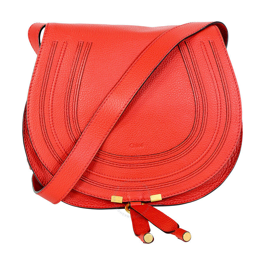 ee78da2514 Chloe Marcie Small Leather Satchel Handbag - Paprika Red Item No.  3S0905-161-BCZ