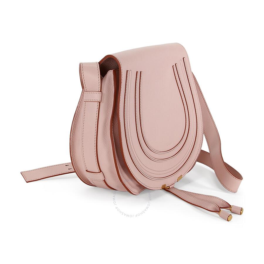 5c950fd73c0 Chloe Marcie Small Saddle Bag - Nude Pink - Marcie - Chloé Handbags ...