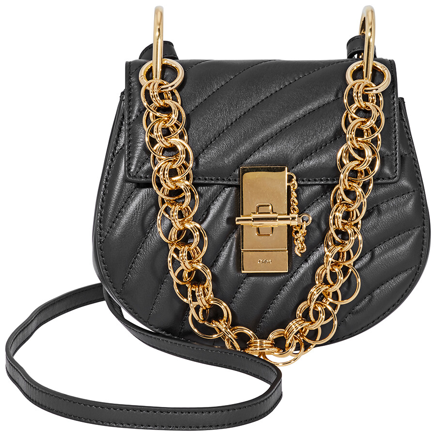1633459c4ab Chloe Mini Drew Bijou Quilted Leather - Black Item No. CHC18US107A04 001