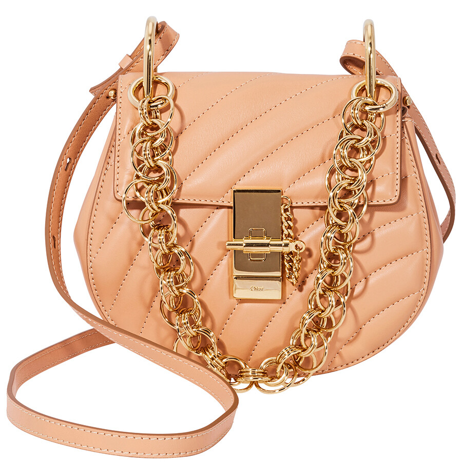 59b73b8d Chloe Mini Drew Bijou Quilted Leather Bag- Blushy Pink