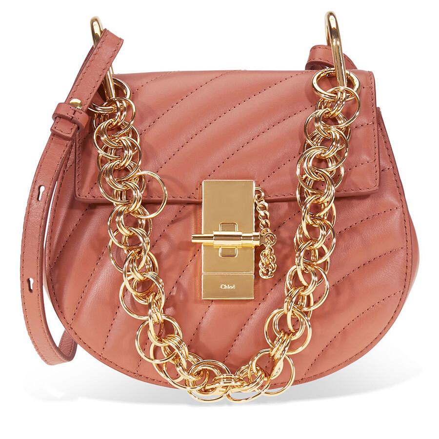 cadf434cf1 Chloe Mini Drew Bijou Quilted Leather Bag- Chestnut Brown Item No.  CHC18US107A04 26K