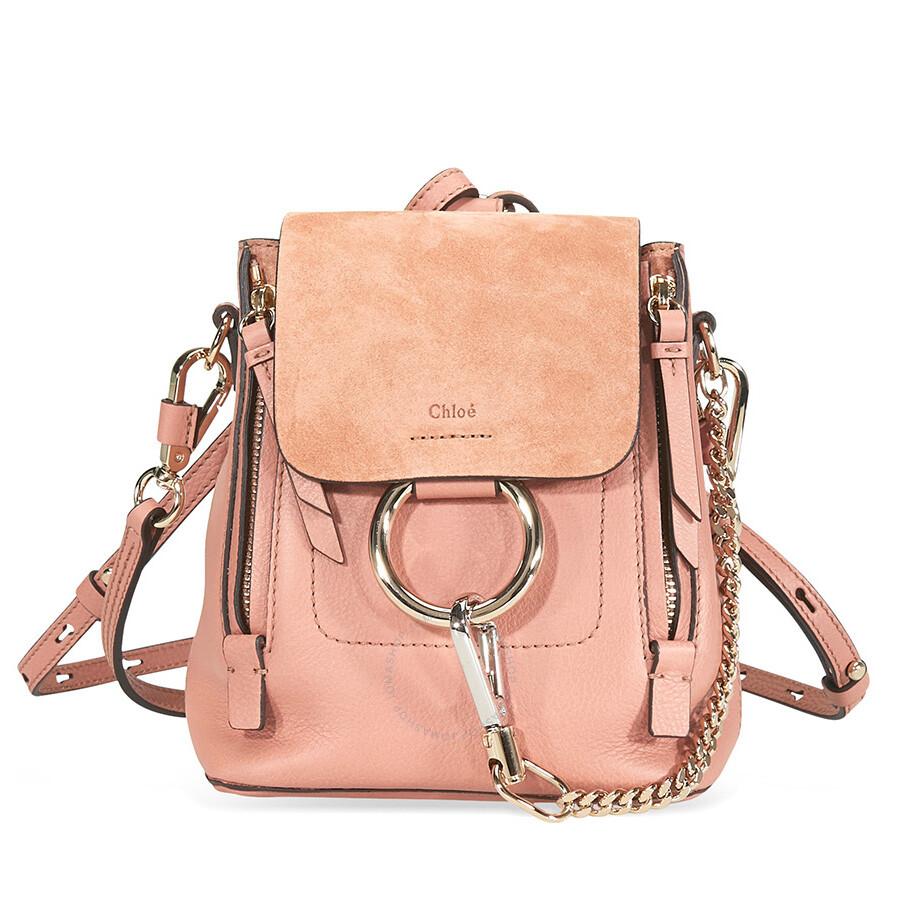 5bf67f840 Chloe Mini Faye Calfskin Backpack- Nougat - Faye - Chloé Handbags ...