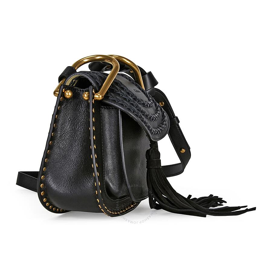 Chloe Mini Hudson Leather Crossbody Bag Black