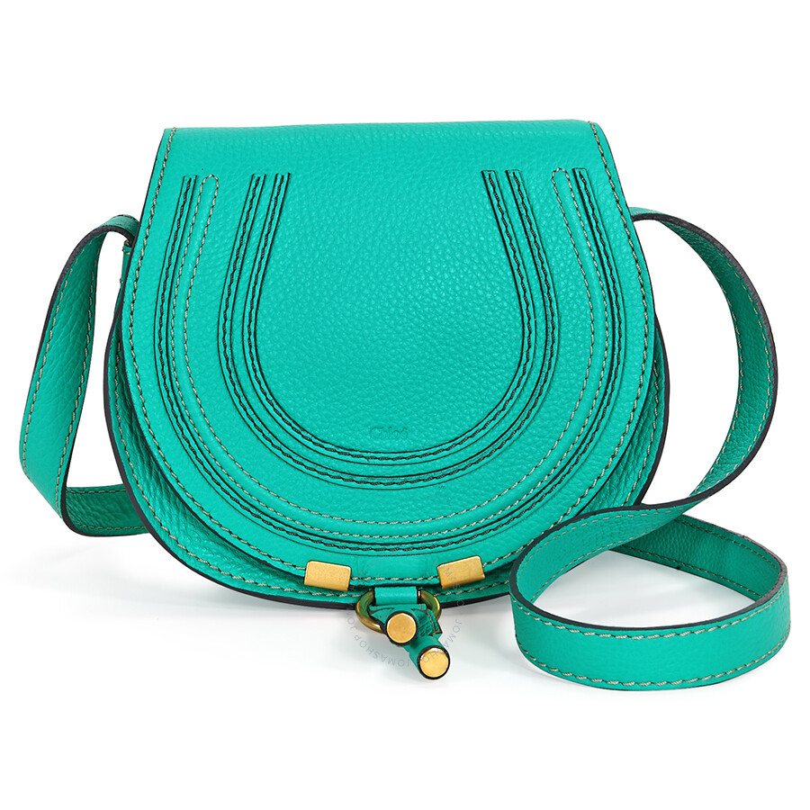 Chloe Mini Marcie Round Bag Pouch - Jade