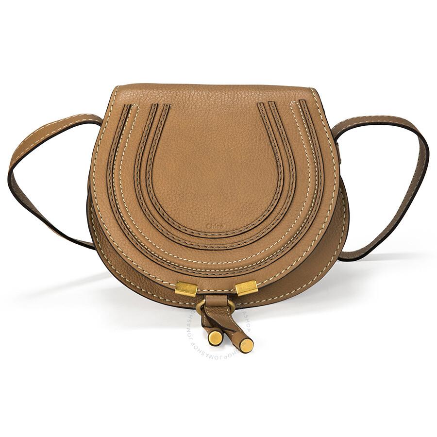 Chloe Mini Marcie Leather Handbag - Nut - Marcie - Chloé Handbags ... c71862560e72